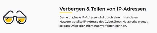 Cyberghost VPN IP verbergen