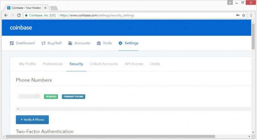 Google Zwei Faktor Authentifizierung setting
